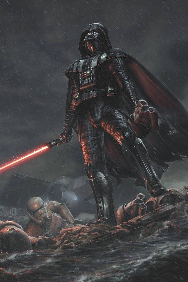 Wallpaper Star Wars Darth Vader Art Rain Star Wars Iphone Wallpaper 4k 800x1200 Wallpaper Teahub Io