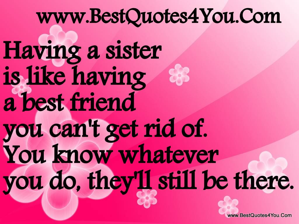 Sister Friend Quotes Having A Sister Is Like Having - Good Thought About Sister - HD Wallpaper