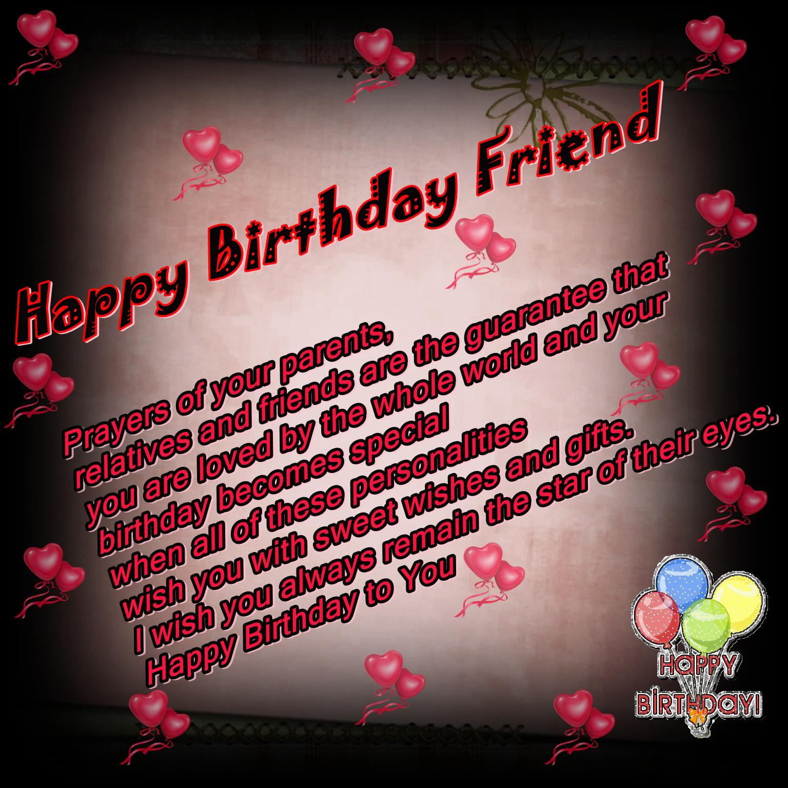 Happy Birthday Friend Images Best Sweet And Beautiful 1536x1536 Wallpaper Teahub Io