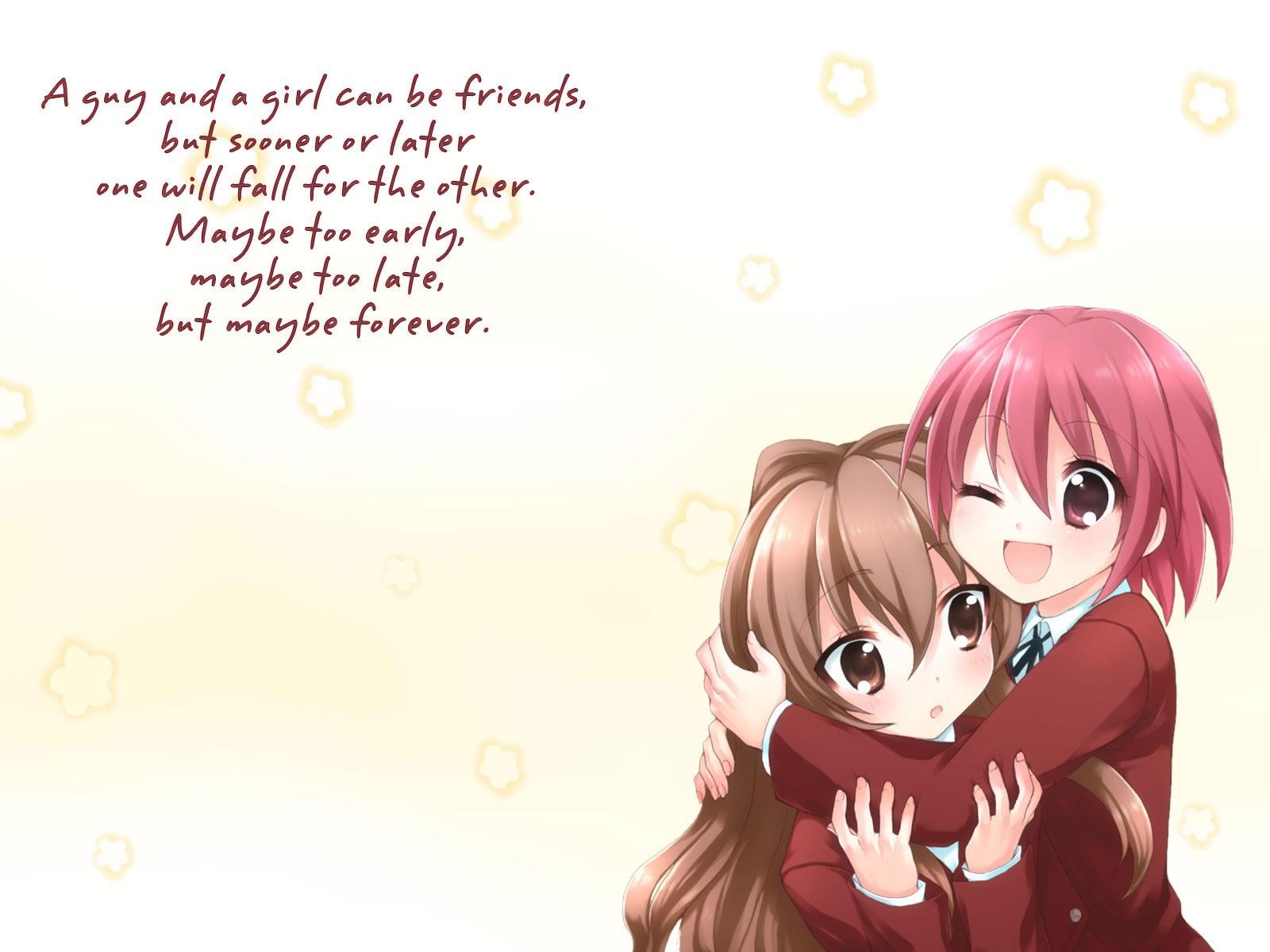 Two Anime Best Friends 1600x1200 Wallpaper Teahub Io