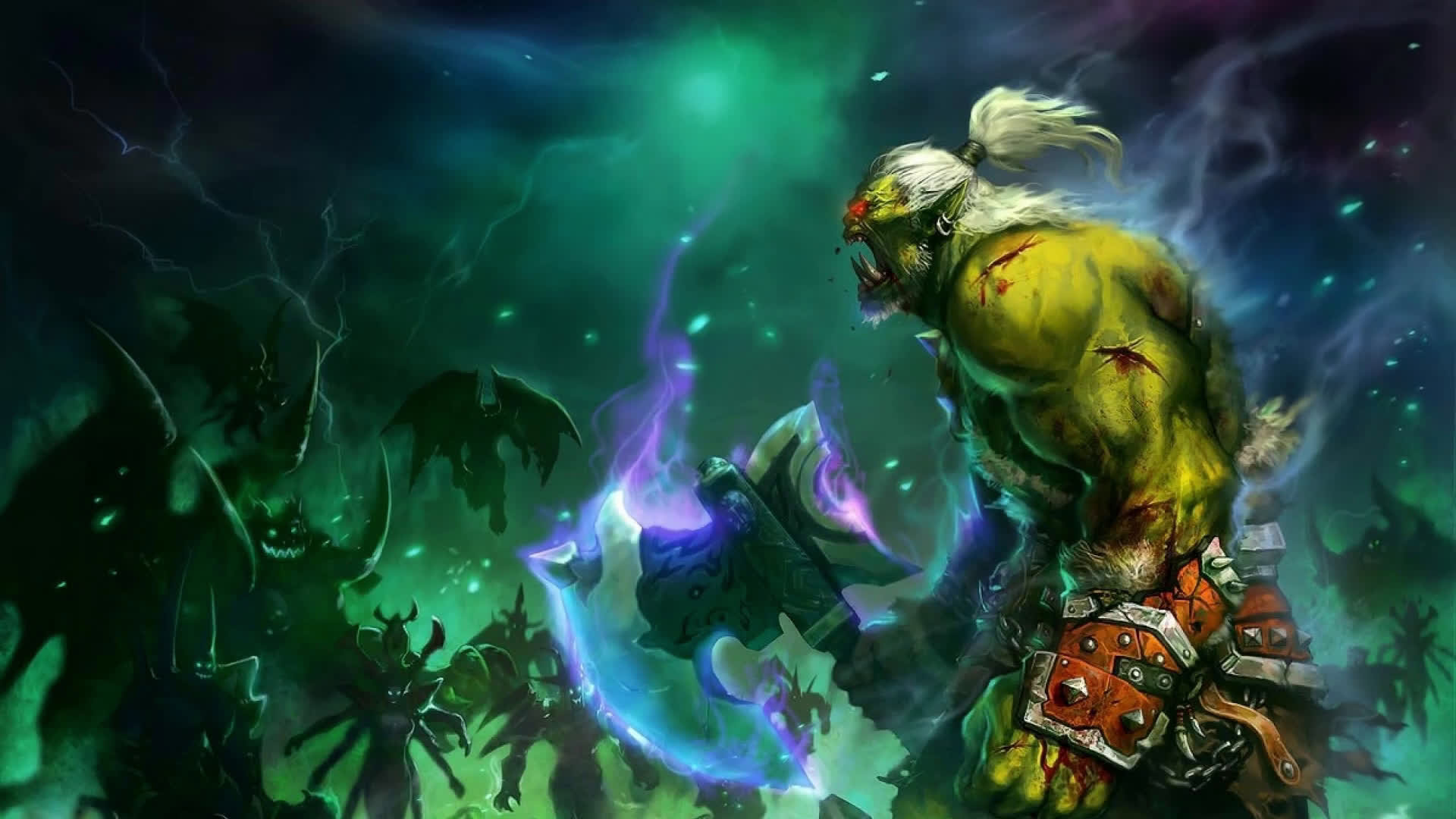1920x1080 World Of Warcraft Warrior Orc Live Wallpaper Broxigar