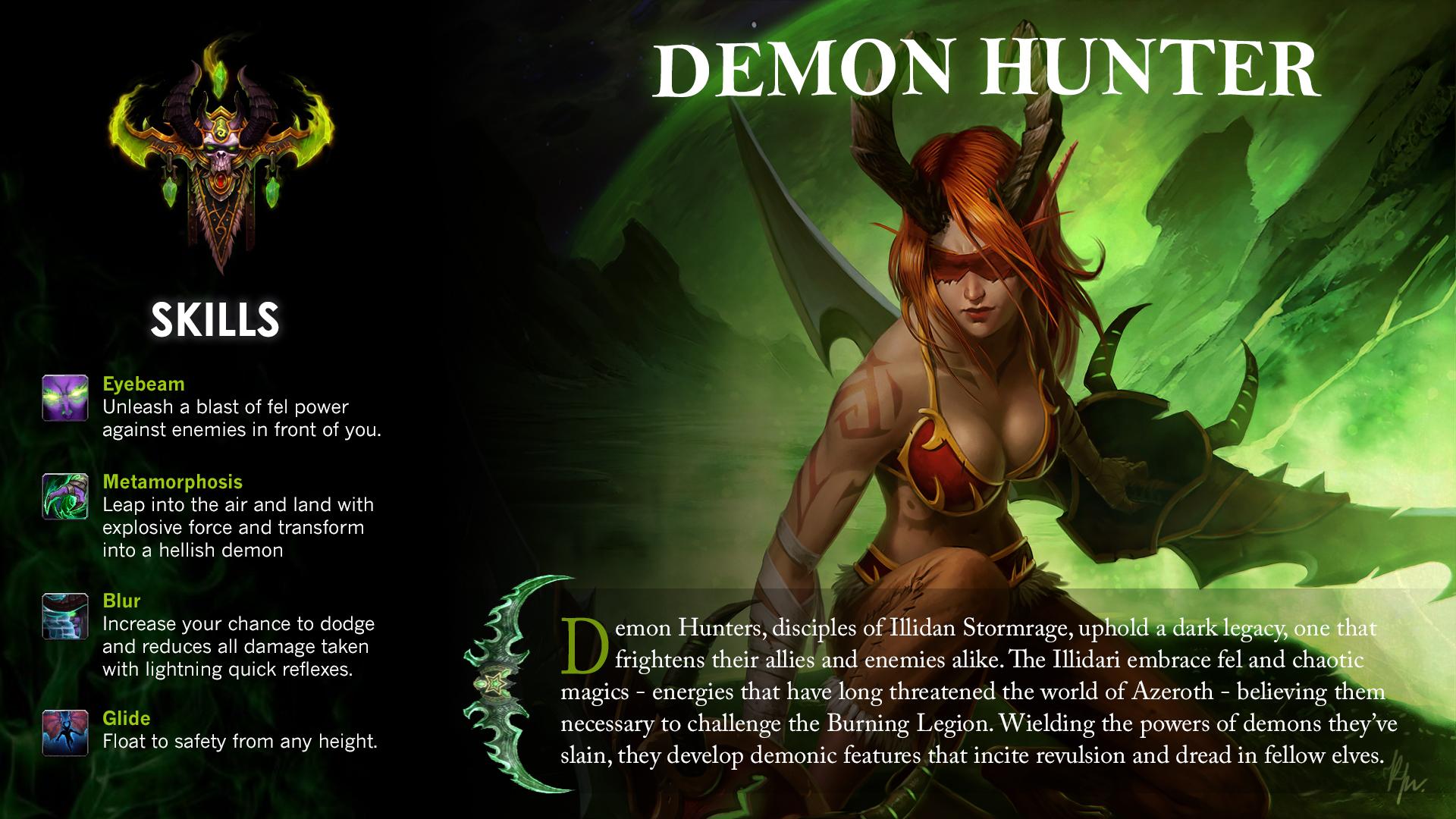 Battle For Azeroth Demon Hunter 1920x1080 Wallpaper Teahub Io