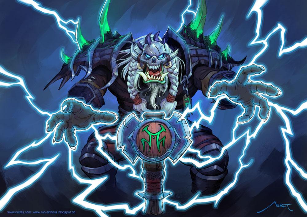 Orc Shaman Art Warcraft 1000x707 Wallpaper Teahub Io