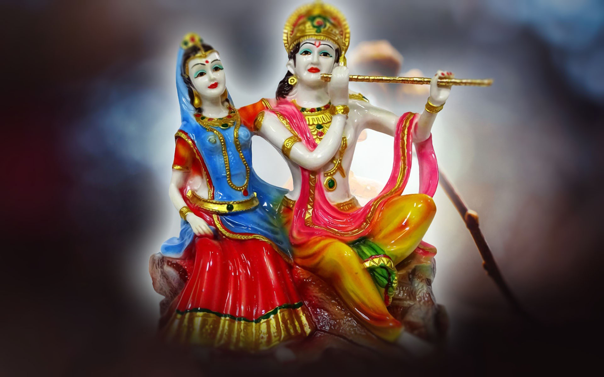 Indian God Goddess Photo, Indian God Hd Photo, God - Radha Krishna Love Dp - HD Wallpaper