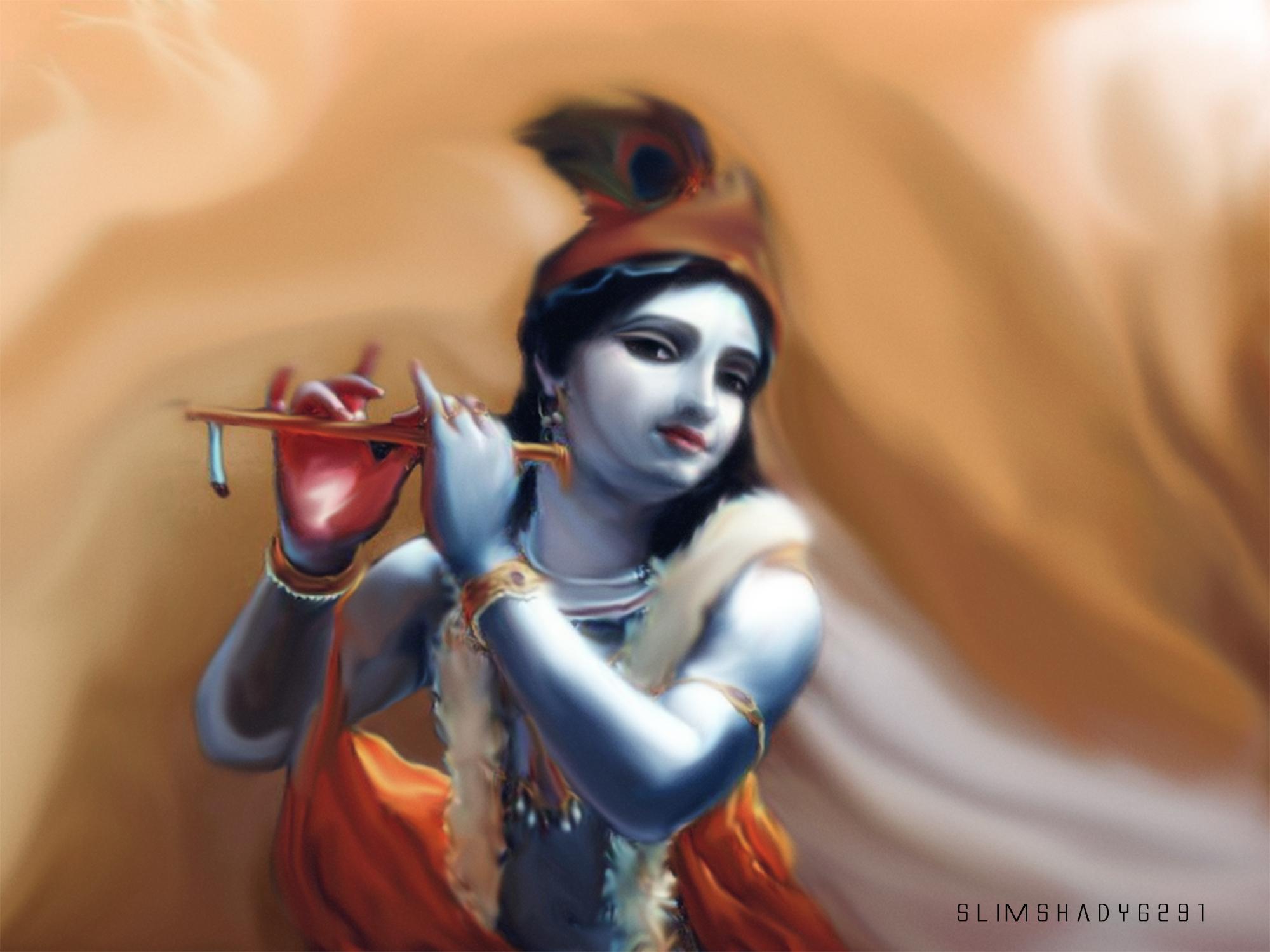 God Krishna - HD Wallpaper