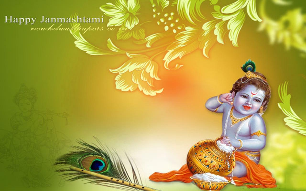 Gods Backgrounds For Laptop - Krishna Janmashtami Images Hd - HD Wallpaper