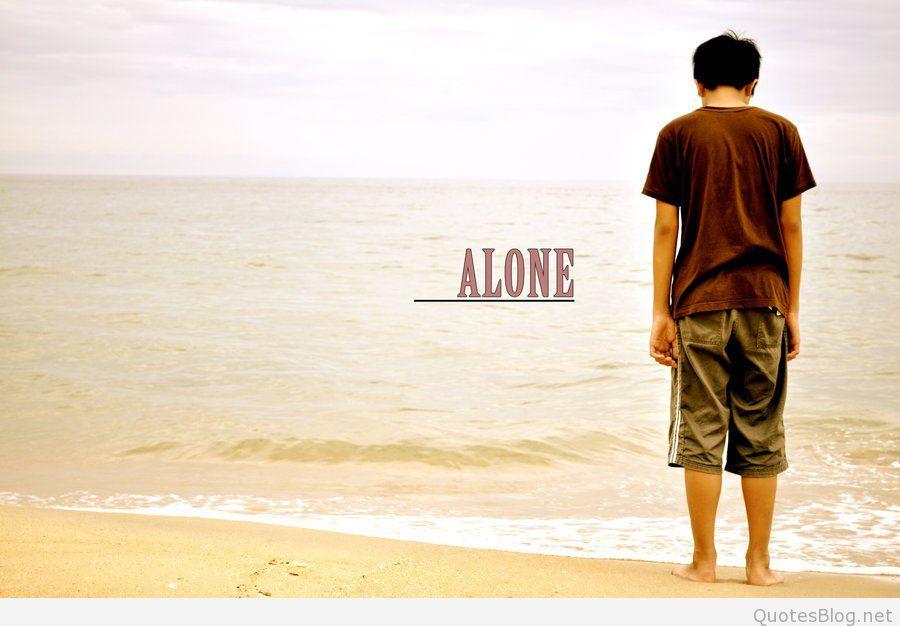 Alone Boy Dp For Whatsapp Free - Sad Love Quotes In Telugu - HD Wallpaper