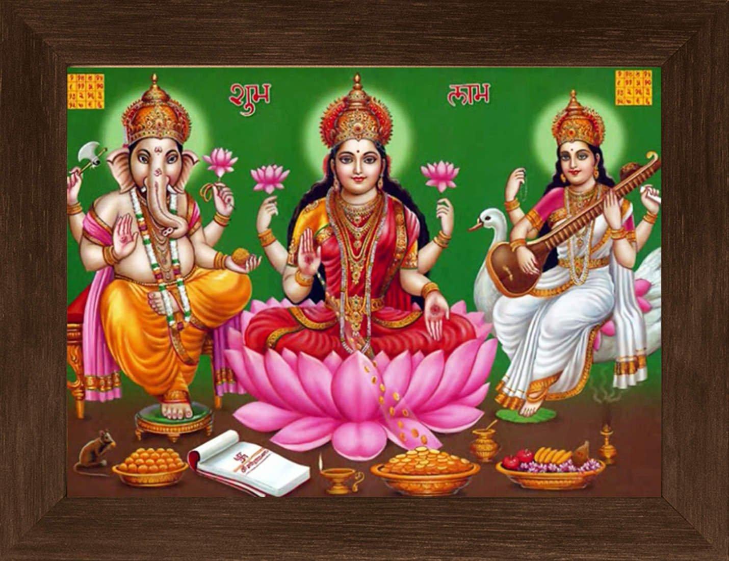 Laxmi Mata Ganesh Ji - HD Wallpaper
