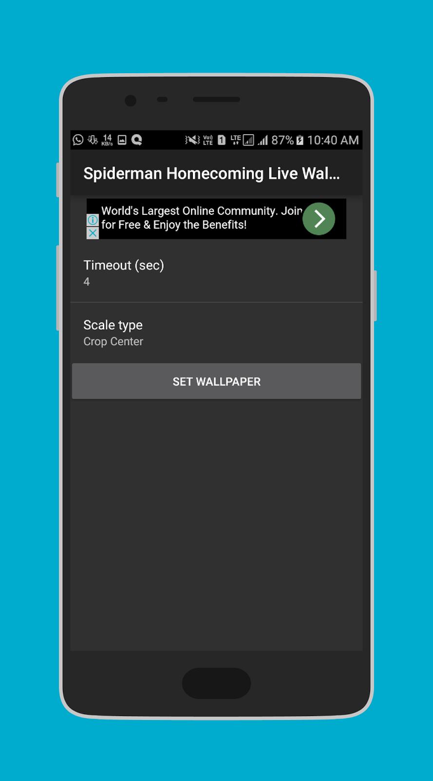 Free Download Spiderman Homecoming Live Wallpaper 3d - Smartphone - HD Wallpaper