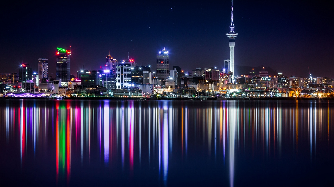 Wallpaper New Zealand, Panorama, Skyscrapers, Buildings, - Auckland New Zealand Hd - HD Wallpaper