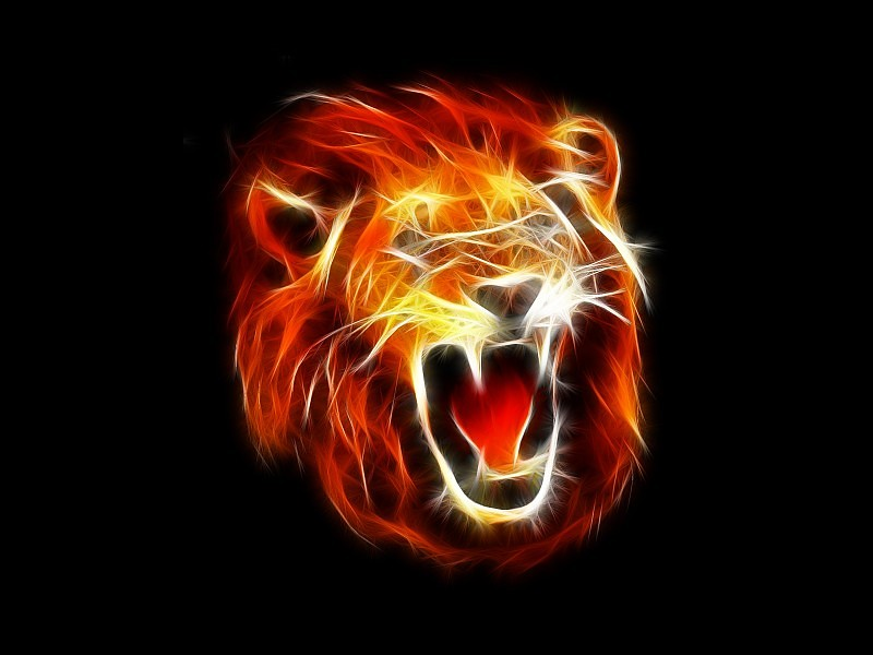 Abstract Lion Painting Wallpaper - Roaring Cool Lion - HD Wallpaper