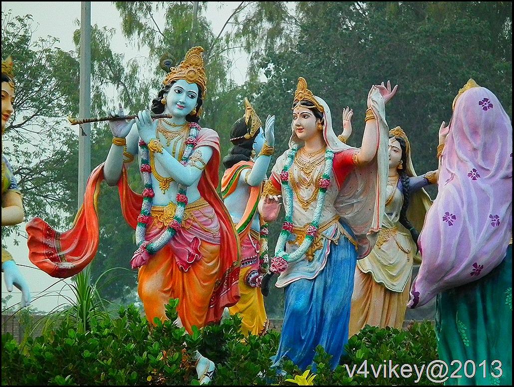 Radha Krishna Statues - Prem Mandir Vrindavan Radha Krishna - HD Wallpaper