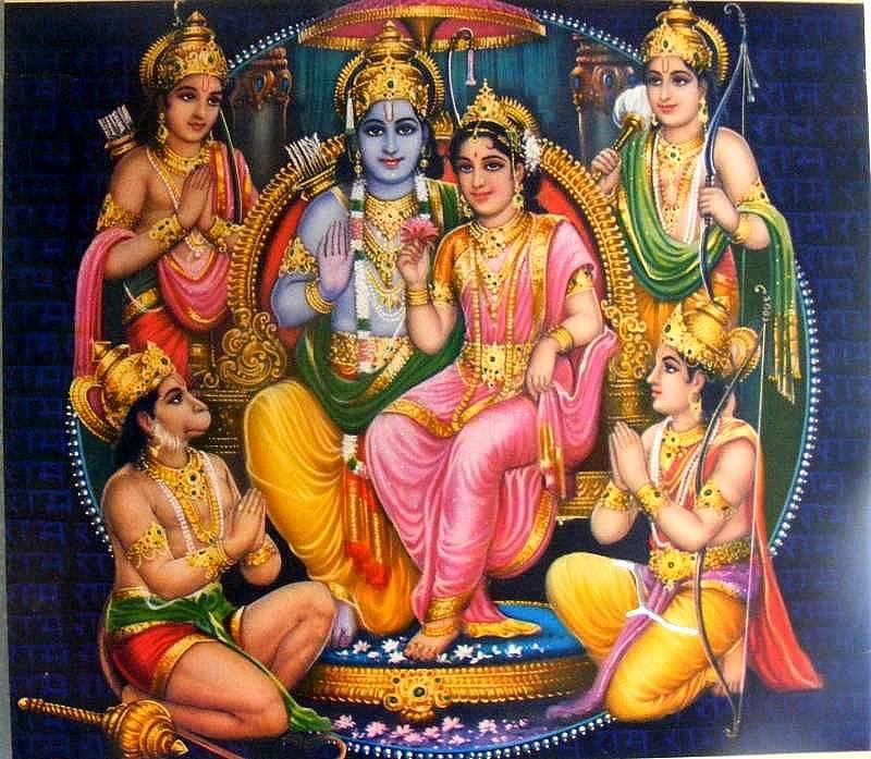 Ram Darbar Ramayana Masam Wishes 800x697 Wallpaper Teahub Io