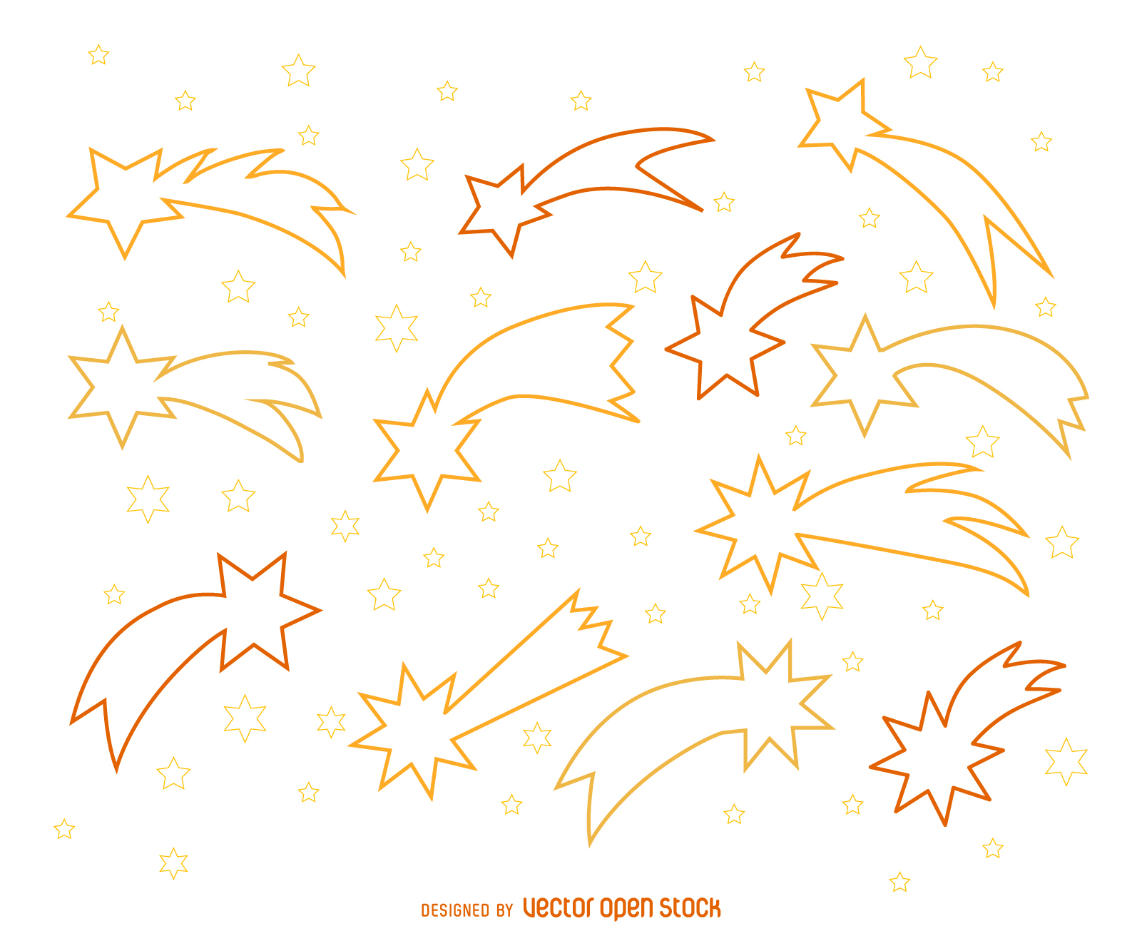 Shooting Stars Outline Illustrations Motif 1601x1312 Wallpaper Teahub Io