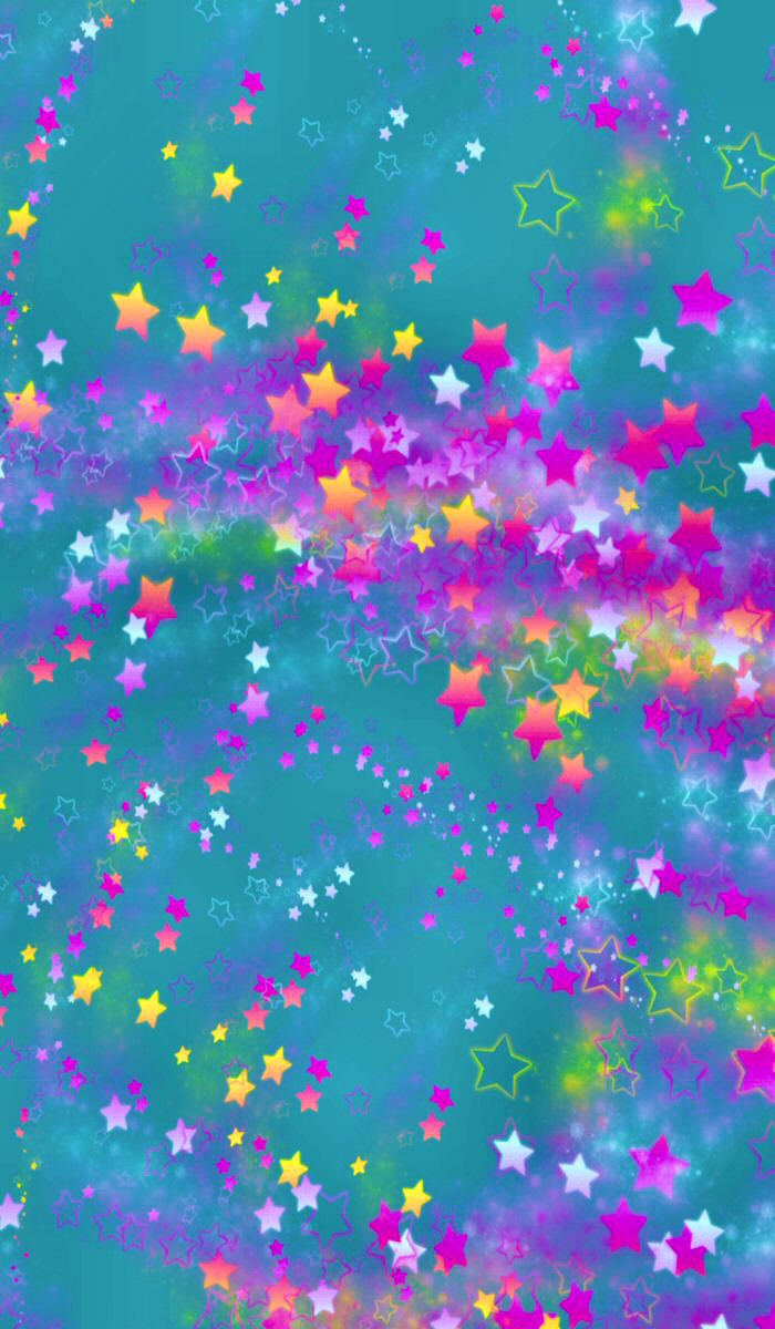 Colorful Stars Iphone - HD Wallpaper
