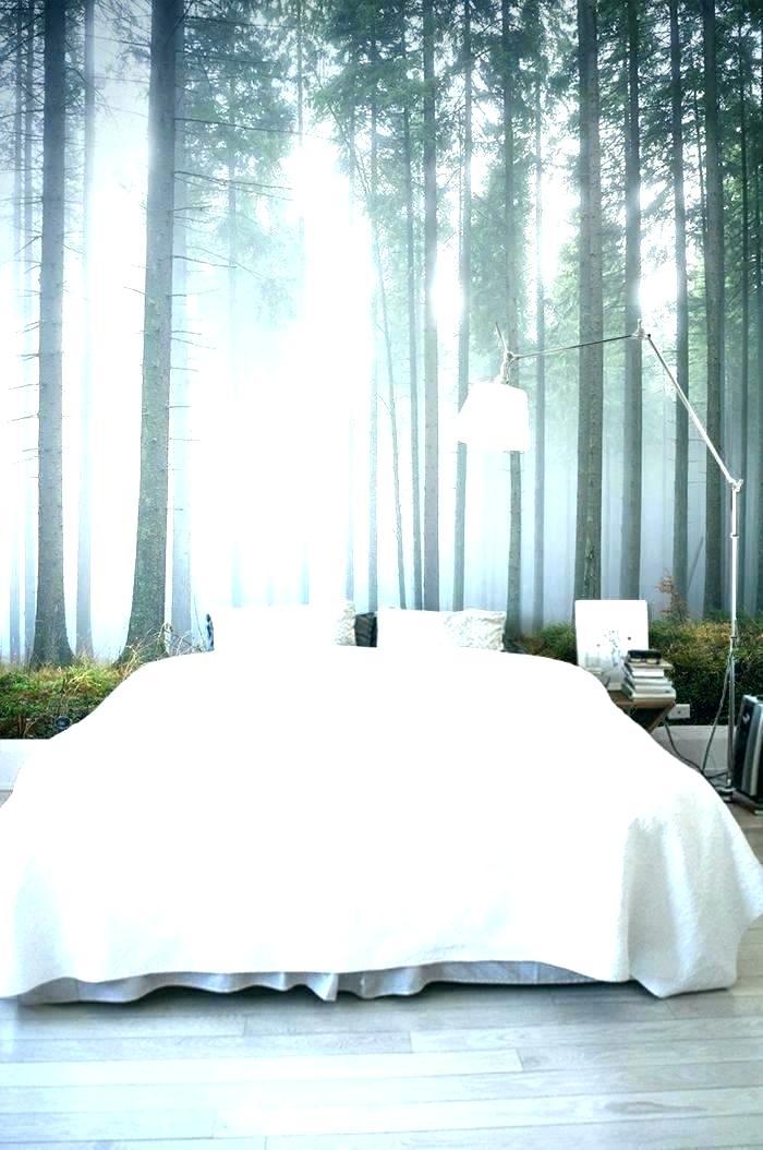 Wallpaper Ideas Bedroom Cool Wallpaper Ideas Bedroom - Forest Nature Inspired Bedroom - HD Wallpaper