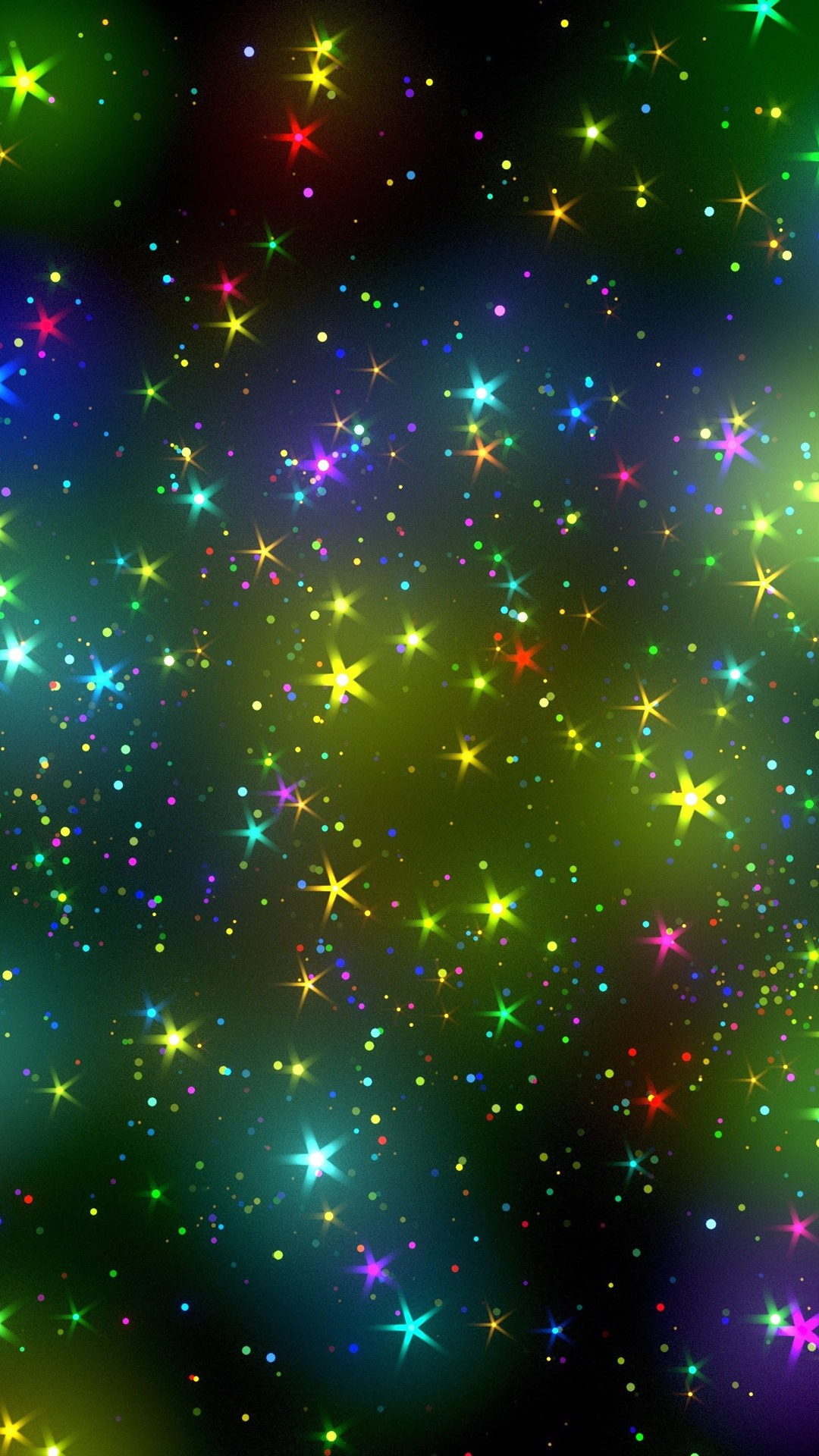 Iphone Wallpaper Colorful Stars, Sky, Abstract Design - Phone Background Colorful Star Sky - HD Wallpaper