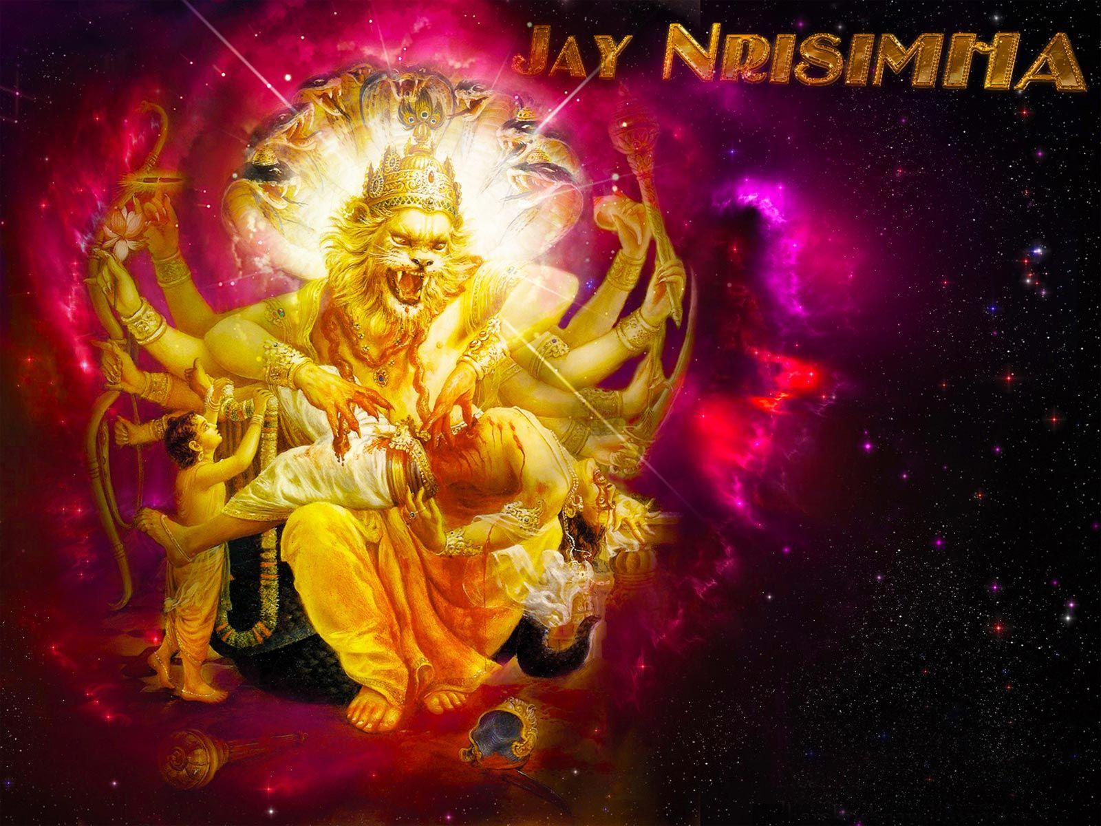 Lord Narasimha - HD Wallpaper