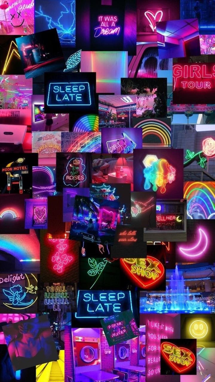 Neon, Pink, And Wallpaper Image - Neon Pink - HD Wallpaper