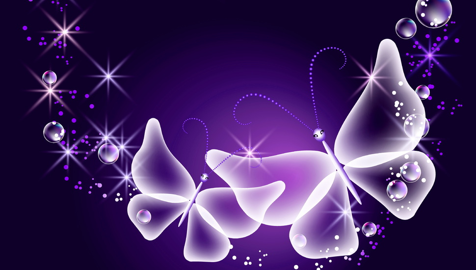 Sparkle, Neon, Butterfly, Glow, Butterflies, Abstract, - Sparkle Purple Butterfly Background - HD Wallpaper
