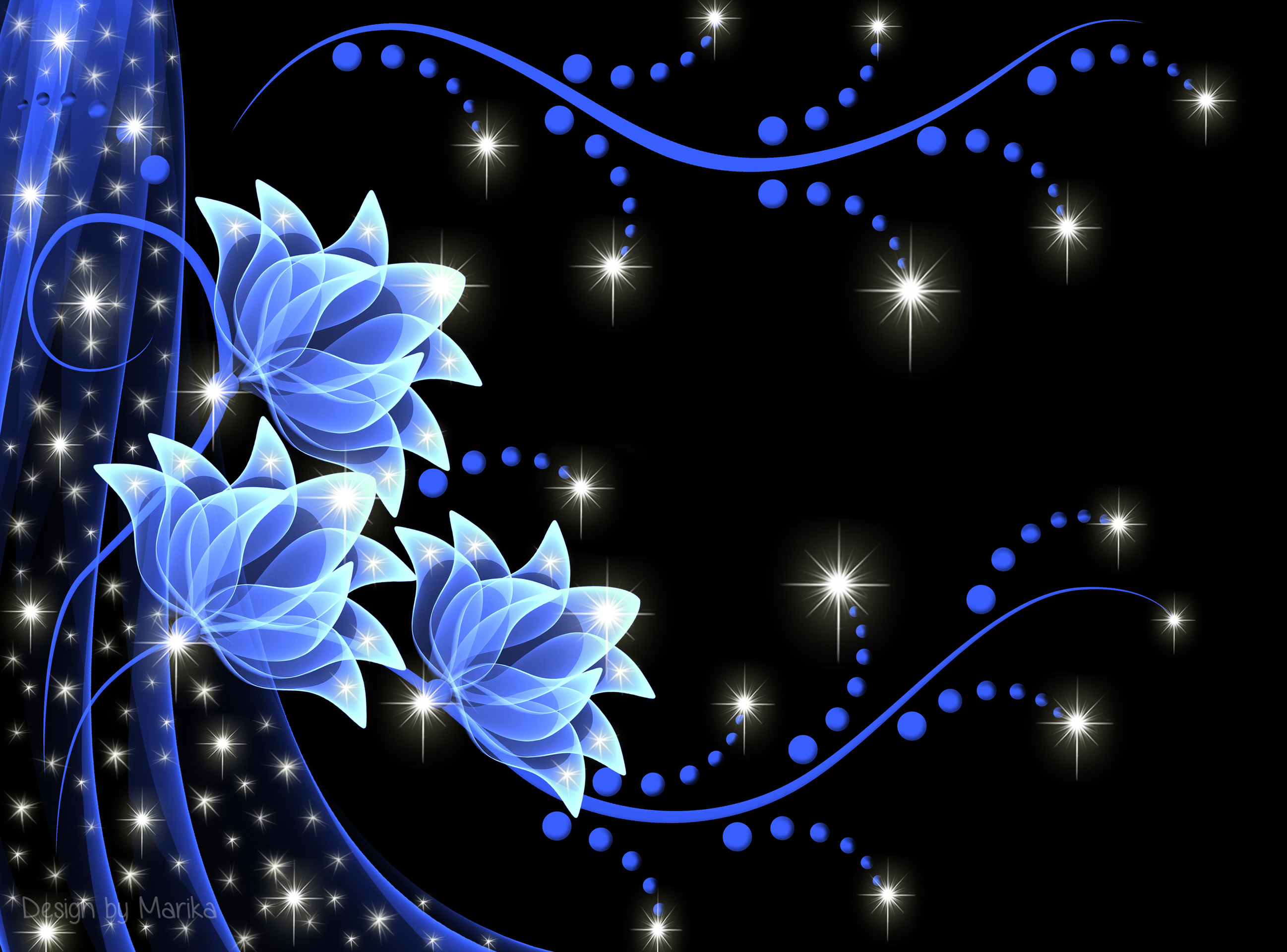 Neon Backgrounds Flowers - 2595x1920 ...
