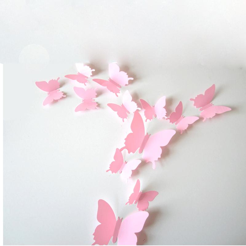 Modern Diy 3d Wallpapers High Quality Decor 12 Butterfly - Butterfly Decorations Wall - HD Wallpaper