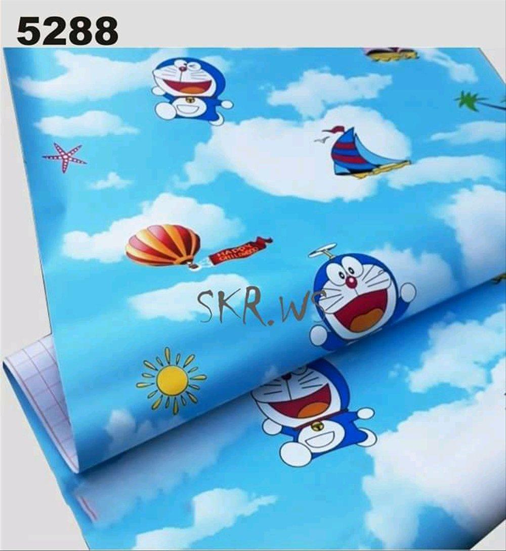 Wallpaper Stiker Hiasan Dinding Kamar Anak Doraemon ...
