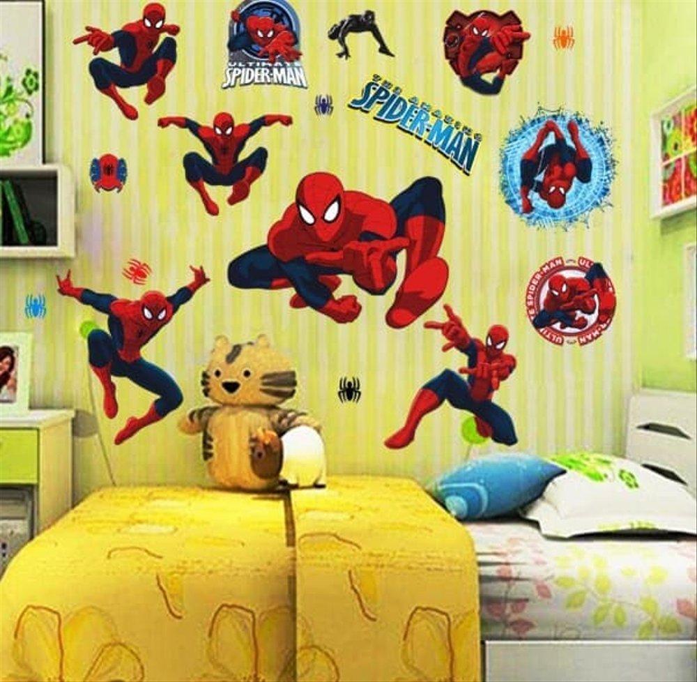 Jual Wallpaper Dinding Untuk Anak Anak Motif Kartun - Decoracion De Cuarto De Niño Con Pared Mural - HD Wallpaper