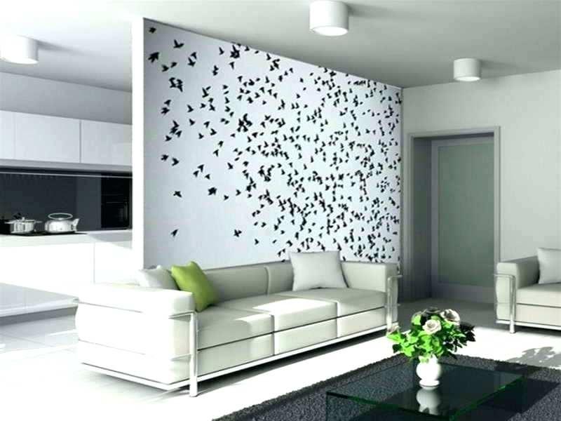 Contoh Gambar Desain Ruang Tamu Dengan Wallpaper Terkini - Modern Wall Art Idea - HD Wallpaper