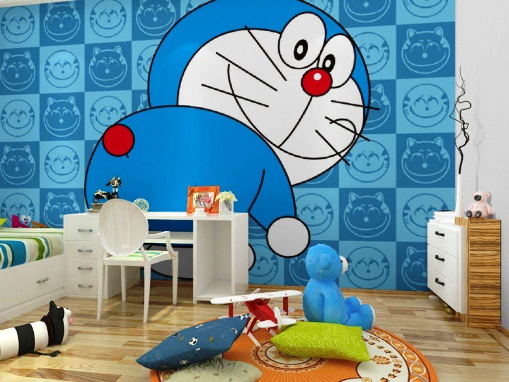 Karakter-kartun - Decal Dán Tường Doremon - HD Wallpaper