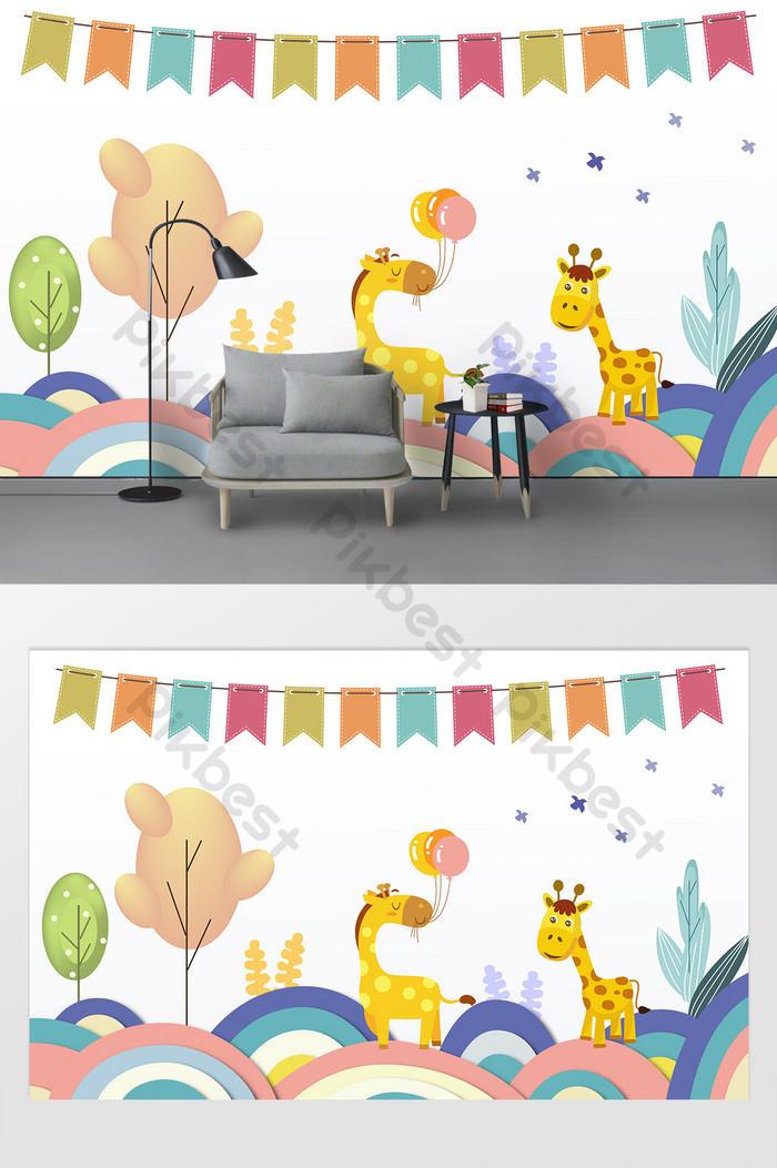Kartun Kecil Segar Hewan Dinding Wallpaper Dinding - Gambar Wallpaper Dinding Kartun - HD Wallpaper