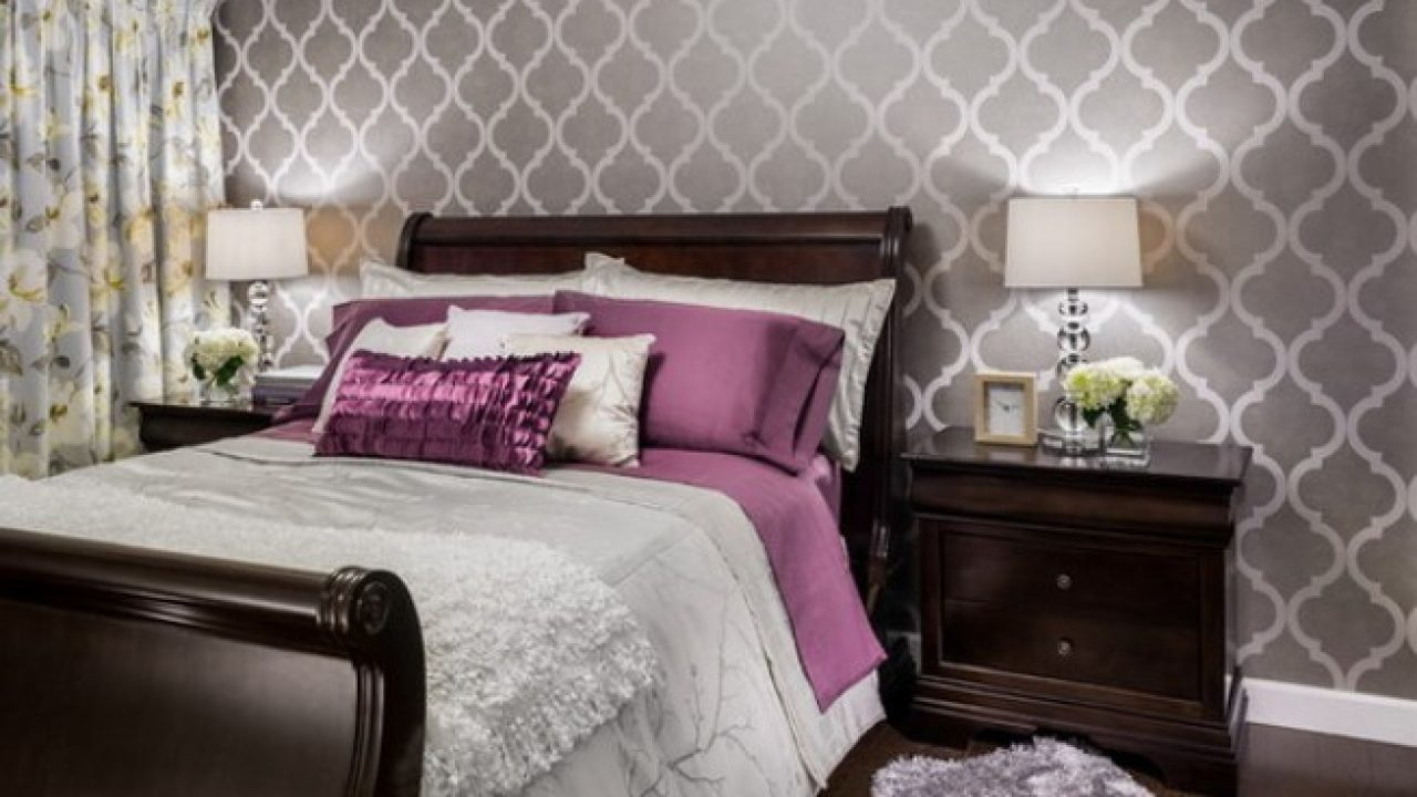 Romantic Bedroom Wall Design Romantic Master Bedroom - HD Wallpaper