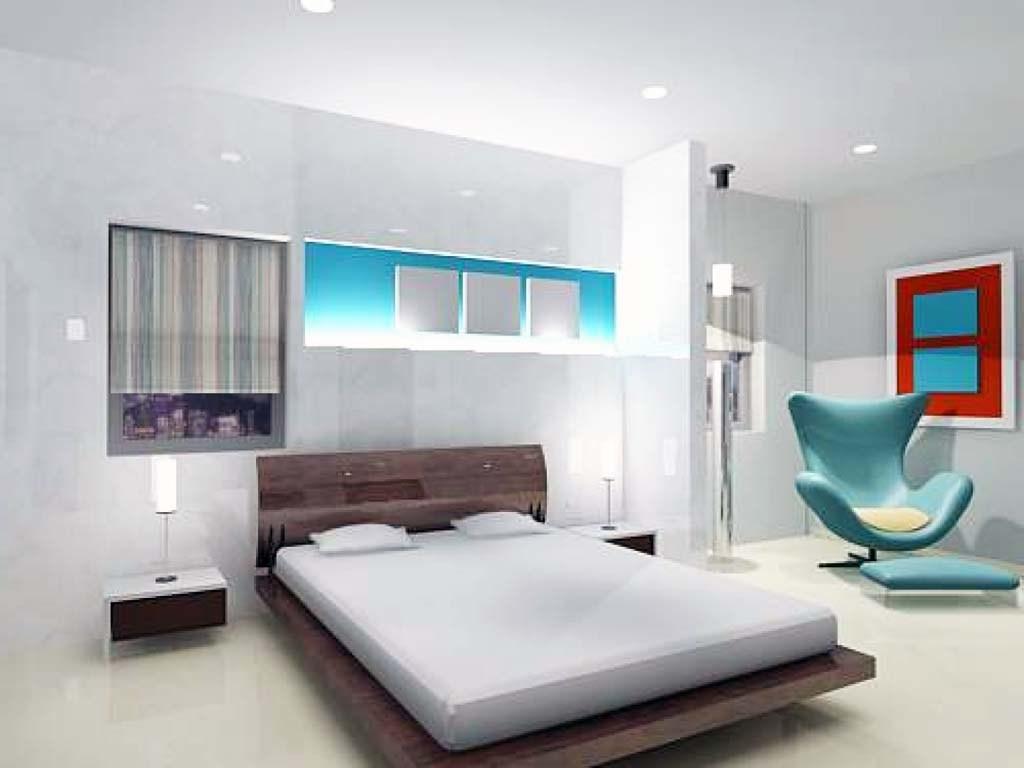 Desain Interior Kamar Tidur Utama Mewah - Small Bedroom Decor Ideas Modern - HD Wallpaper