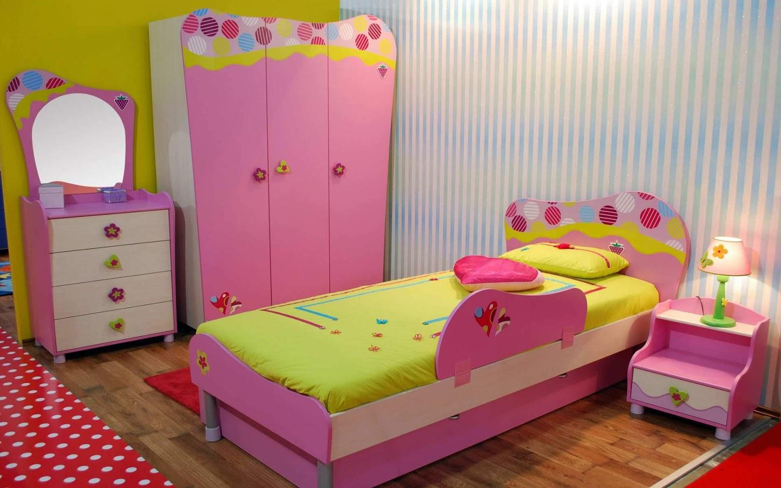 Kamar Tidur Utama Desain Anak Ada Kamar Mandi - Kids Bedroom Ideas For Small Rooms For Girls - HD Wallpaper