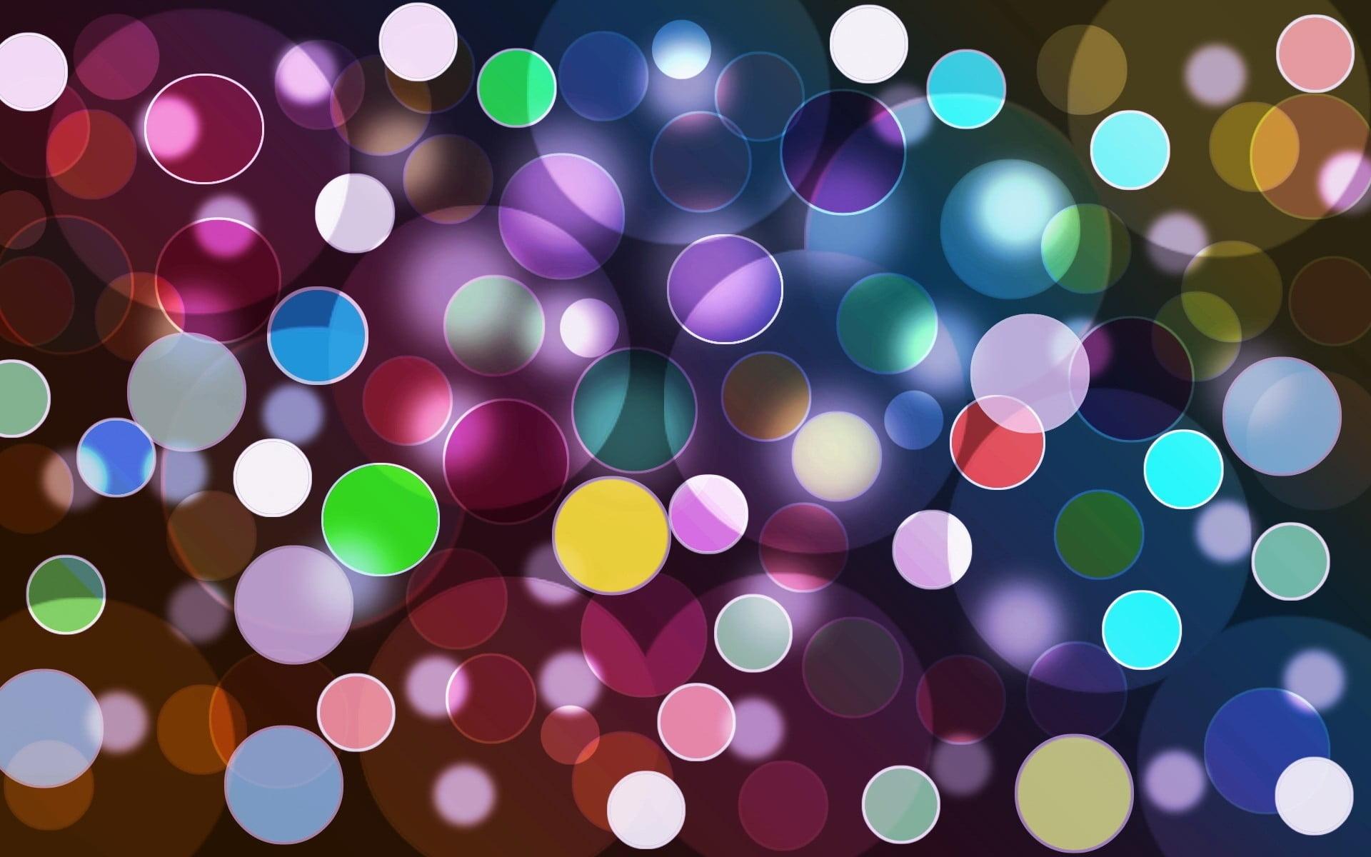 Colorful Bubbles Wallpaper Hd - HD Wallpaper