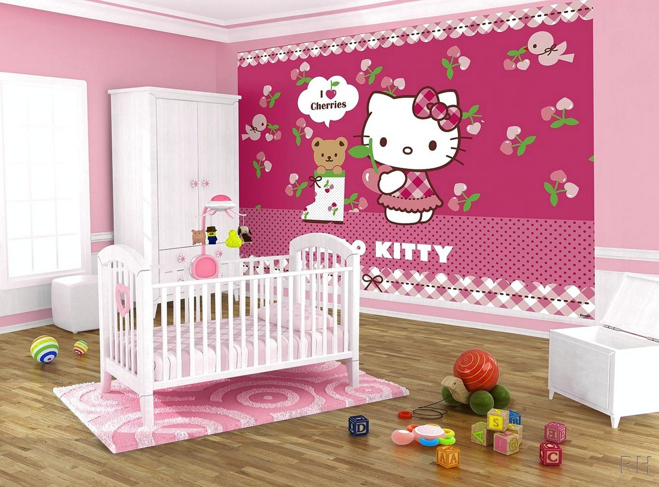 Creating A Cute Hello Kitty Bedroom Photo Boys Blue Nursery Ideas 1325x980 Wallpaper Teahub Io