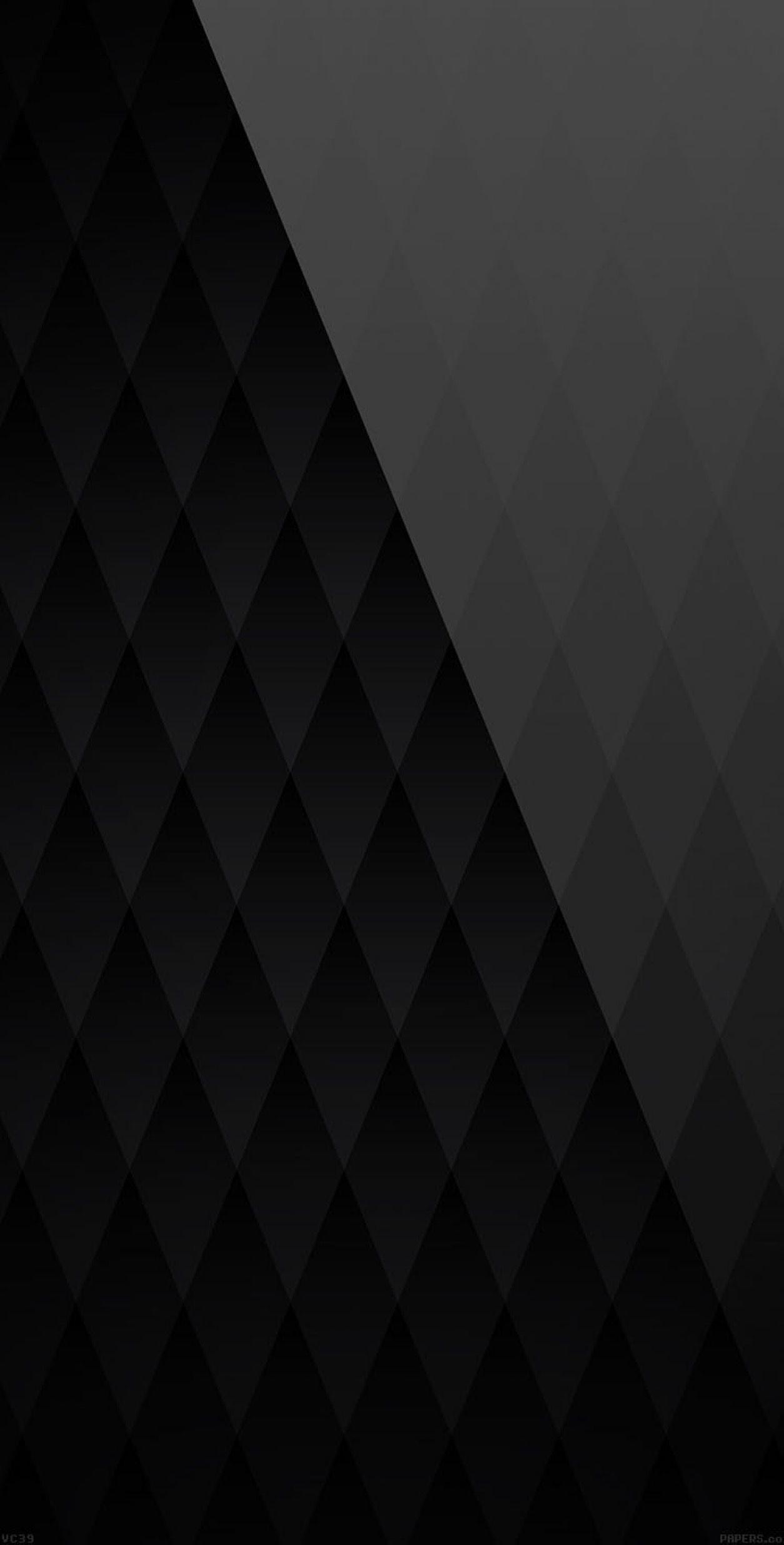 1255x2471, Black, Gloss, Dark, Wallpaper, Galaxy, Clean, - Black Diamond Pattern - HD Wallpaper