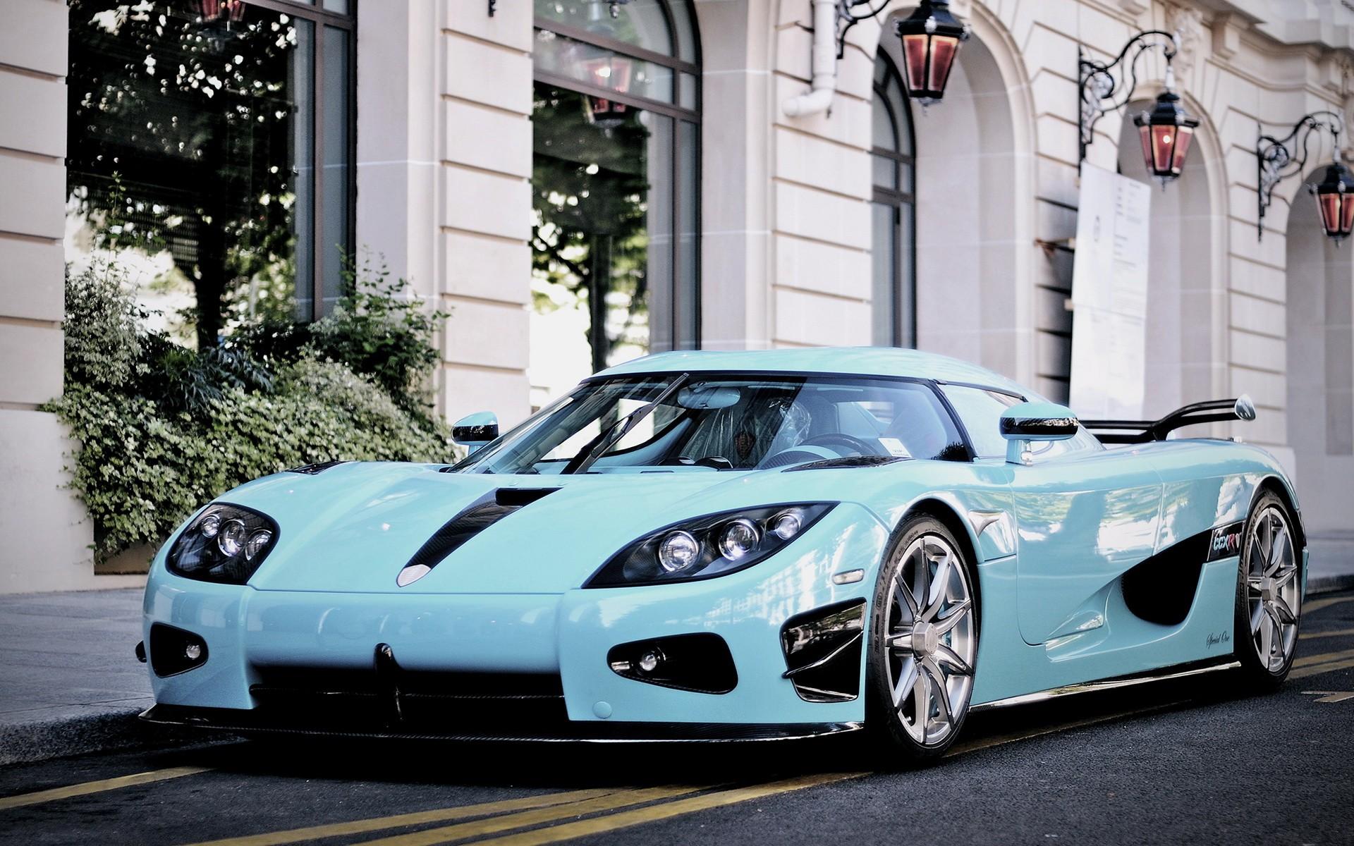 Download Car Wallpapers, Widescreen, Modified Cars, - Light Blue Koenigsegg Agera R - HD Wallpaper