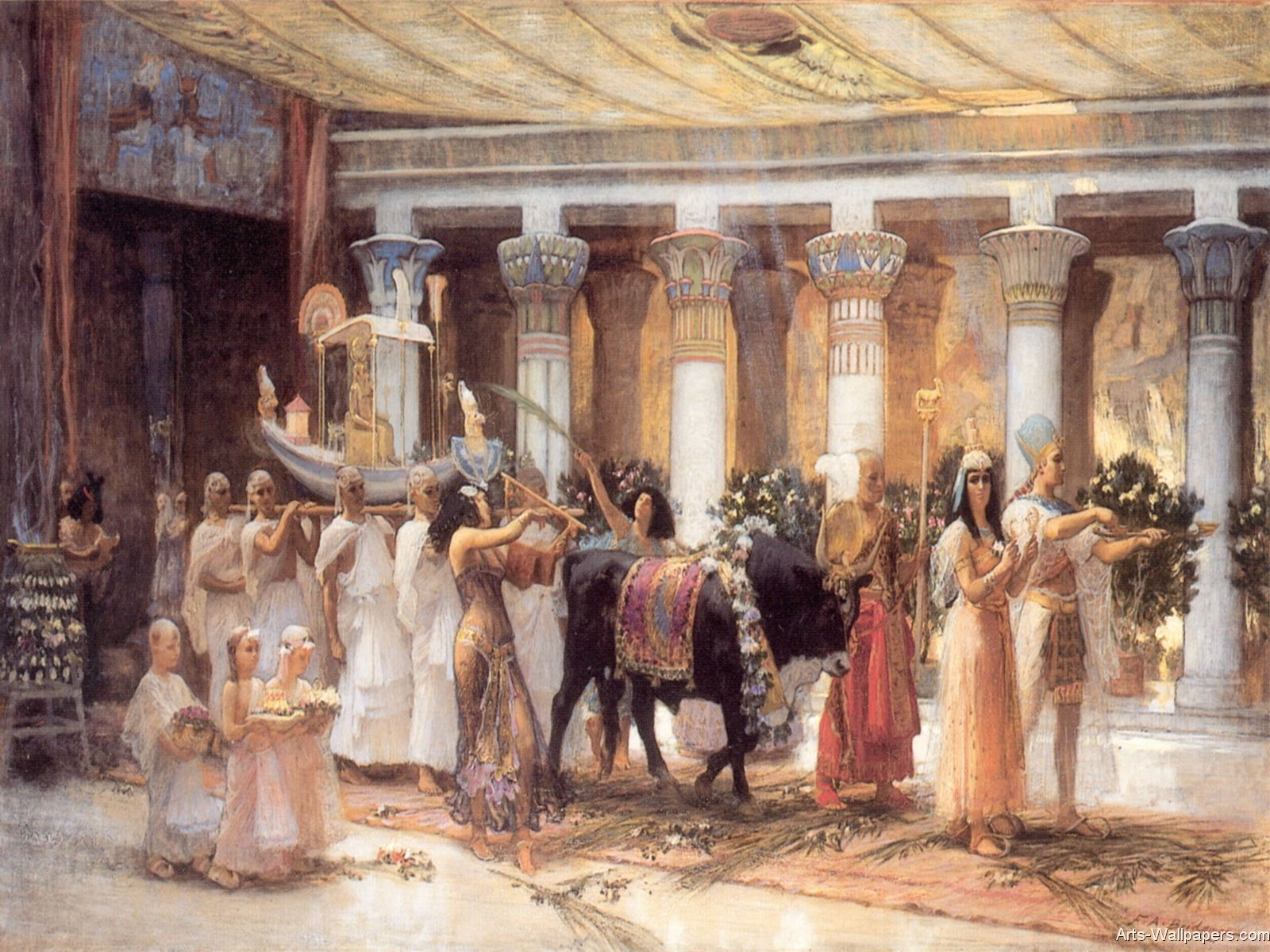 Ancient Egypt Classical Painting - HD Wallpaper