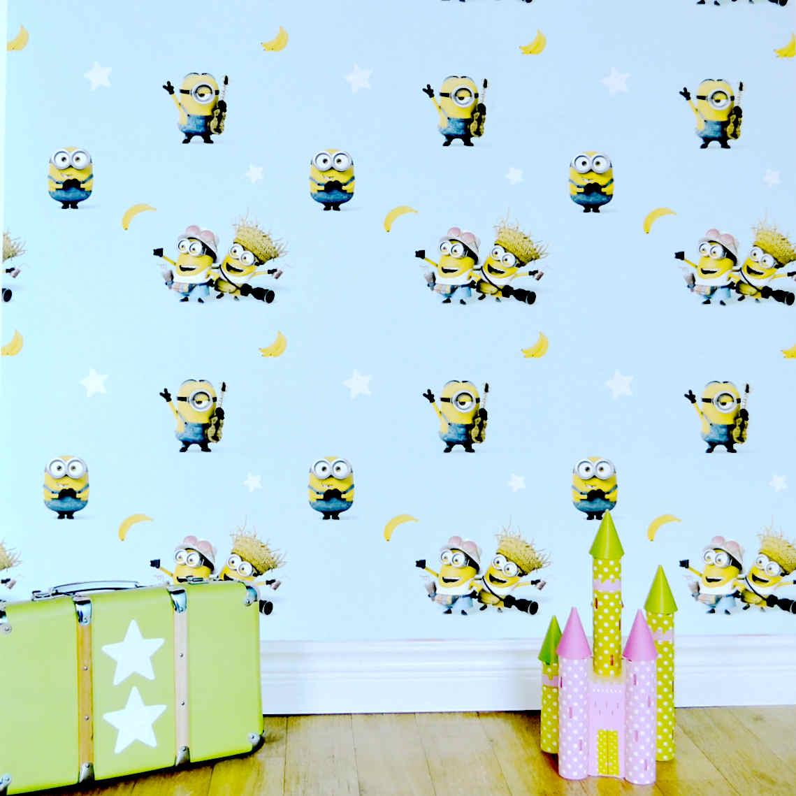 Stiker Dinding Kamar Minions - HD Wallpaper