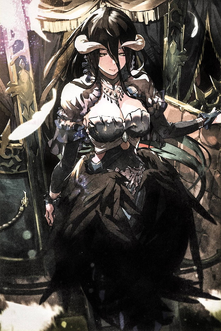 Overlord Anime Girls Albedo Overlord Clothing Albedo Overlord Light Novel 728x1087 Wallpaper Teahub Io