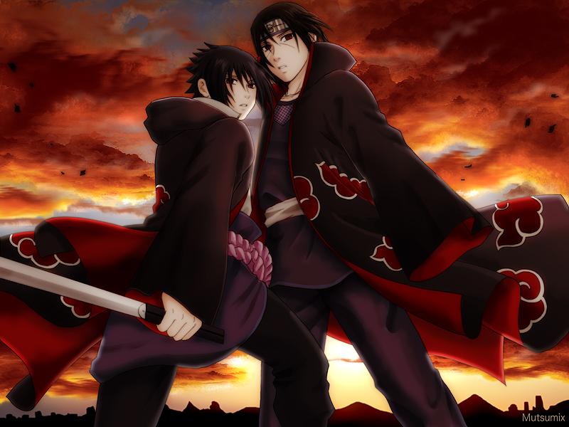 Sasuke And Itachi - Sasuke And Itachi Akatsuki - HD Wallpaper