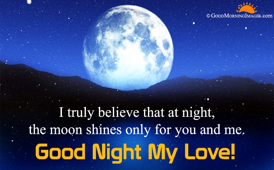 Good Night My Love Quote Sms With Full Moon Wallpaper - Moon - HD Wallpaper
