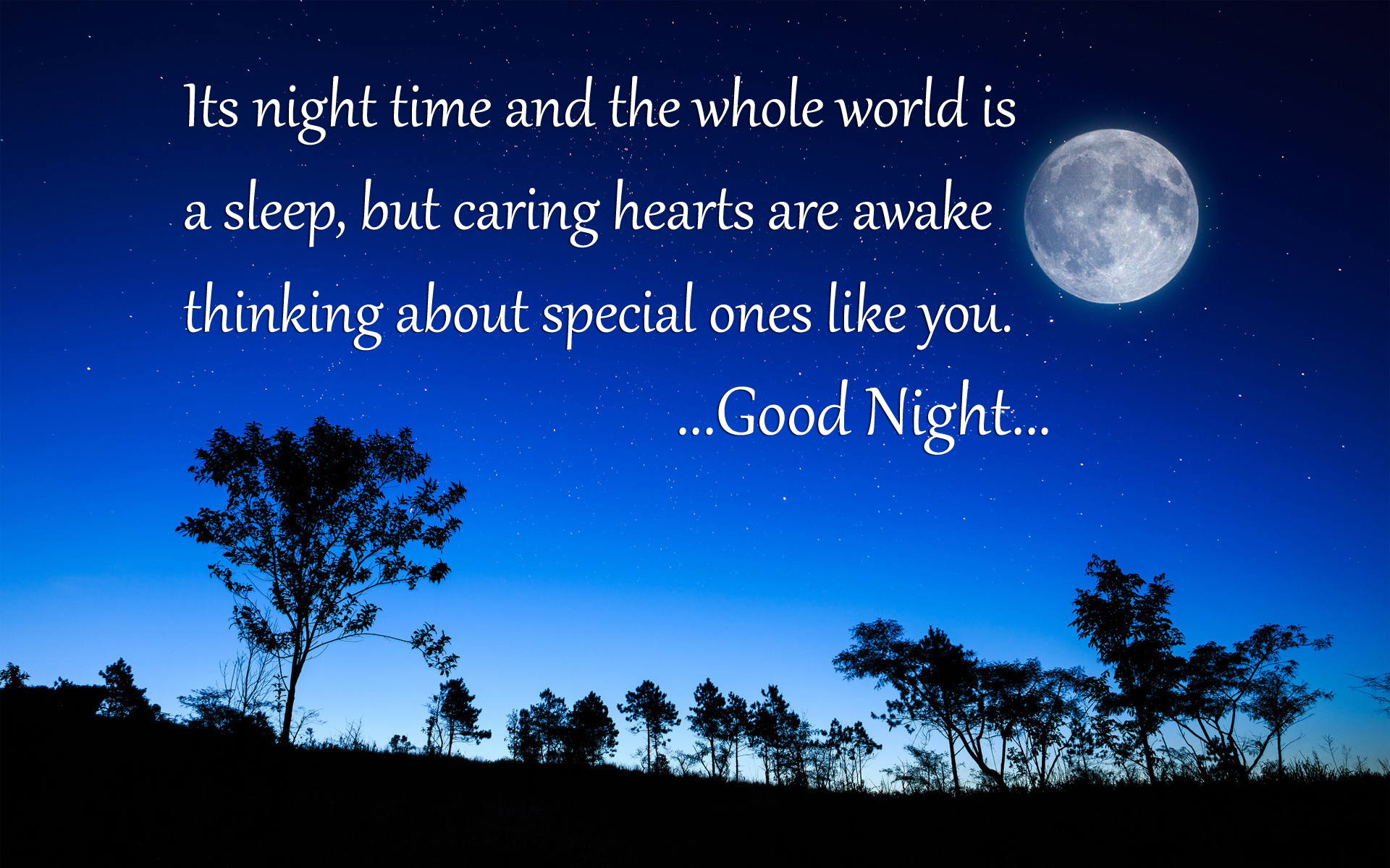 Beautiful Good Night Quote Hd Wallpapers - Beautiful Good Night Thoughts - HD Wallpaper