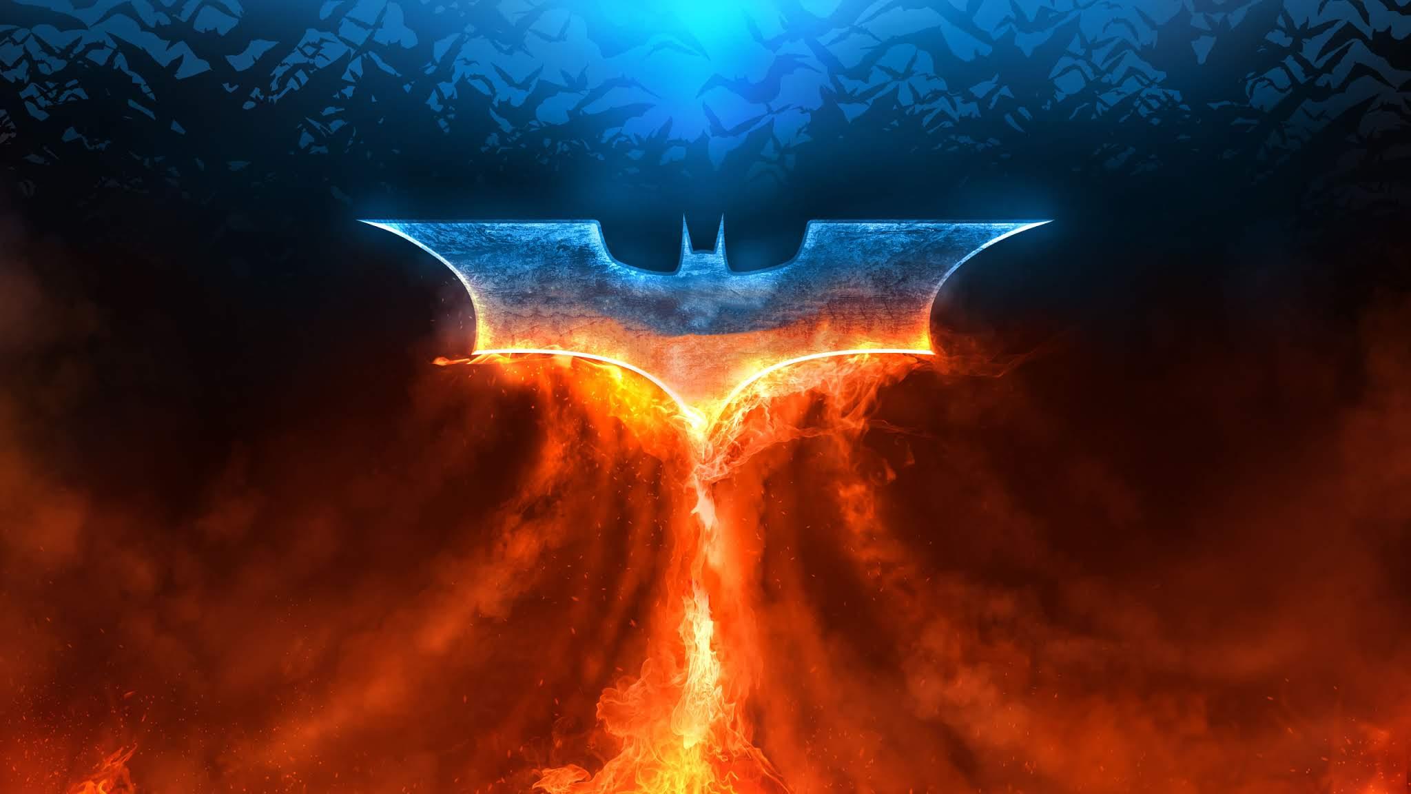 Cool Logo Wallpaper - Batman Logo 4k - 2048x1152 Wallpaper ...