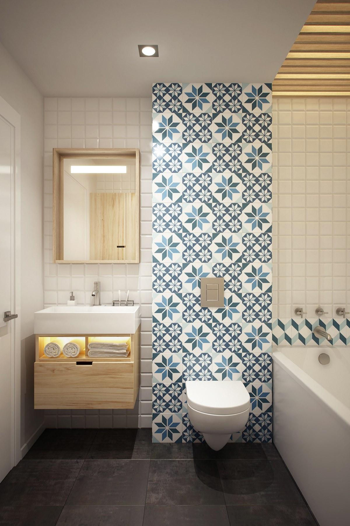 Modern Bathroom Tiles Design - HD Wallpaper