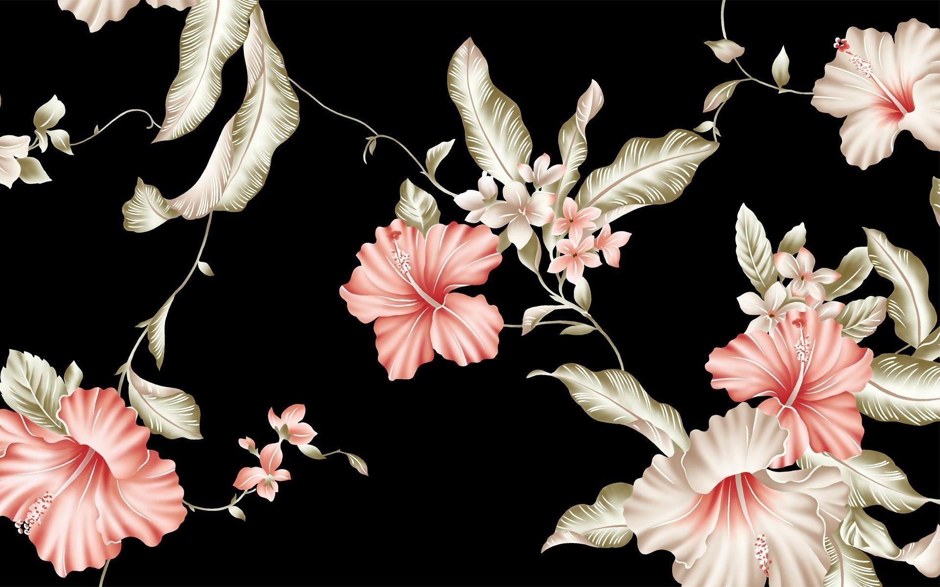 Most Downloaded Vintage Flower Wallpapers - Floral Desktop - HD Wallpaper