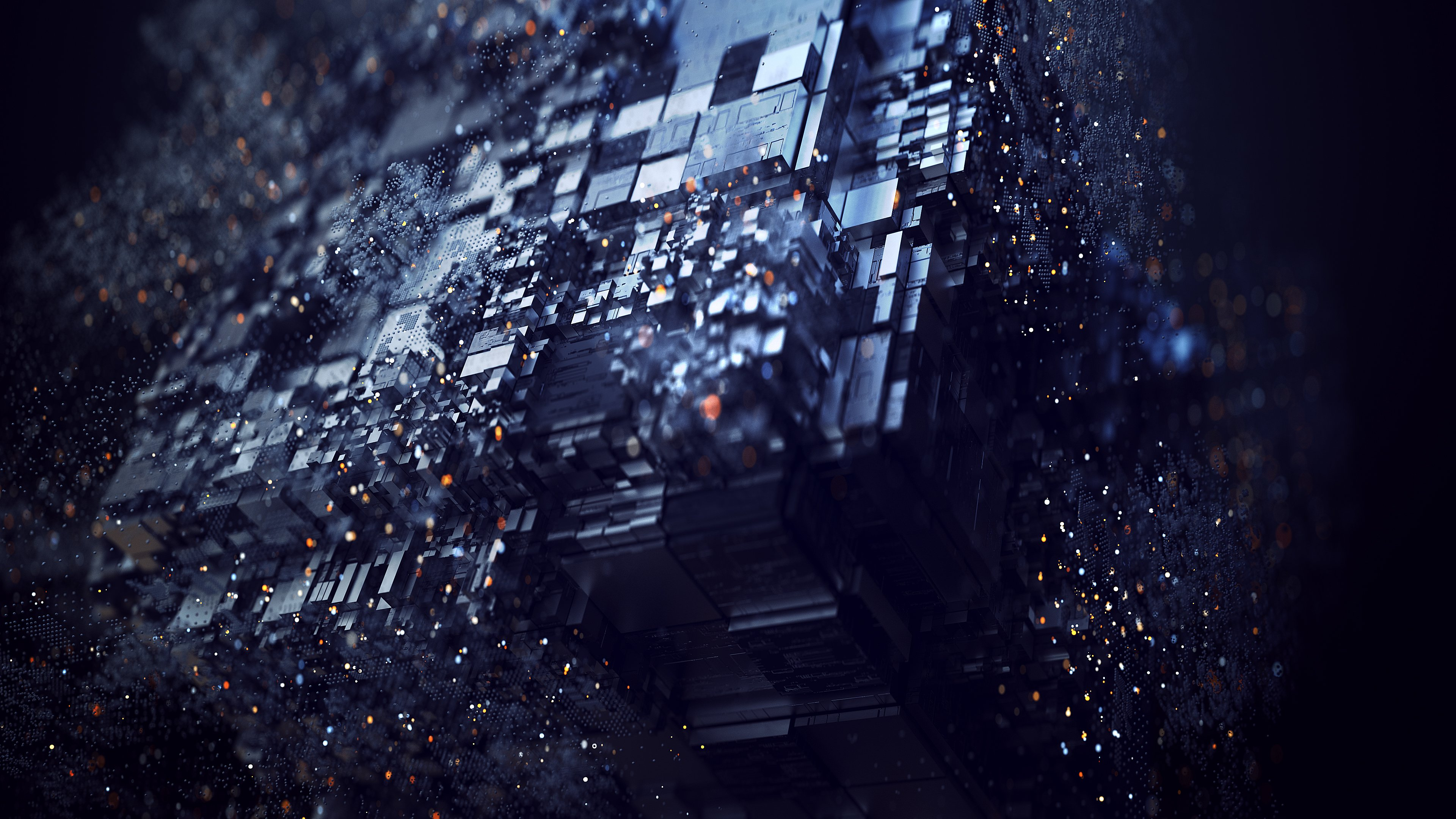 Abstract Digital Art Background - HD Wallpaper