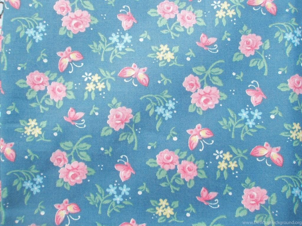 Vintage Floral Desktop Wallpaper - Blue Vintage Flowers Background - HD Wallpaper