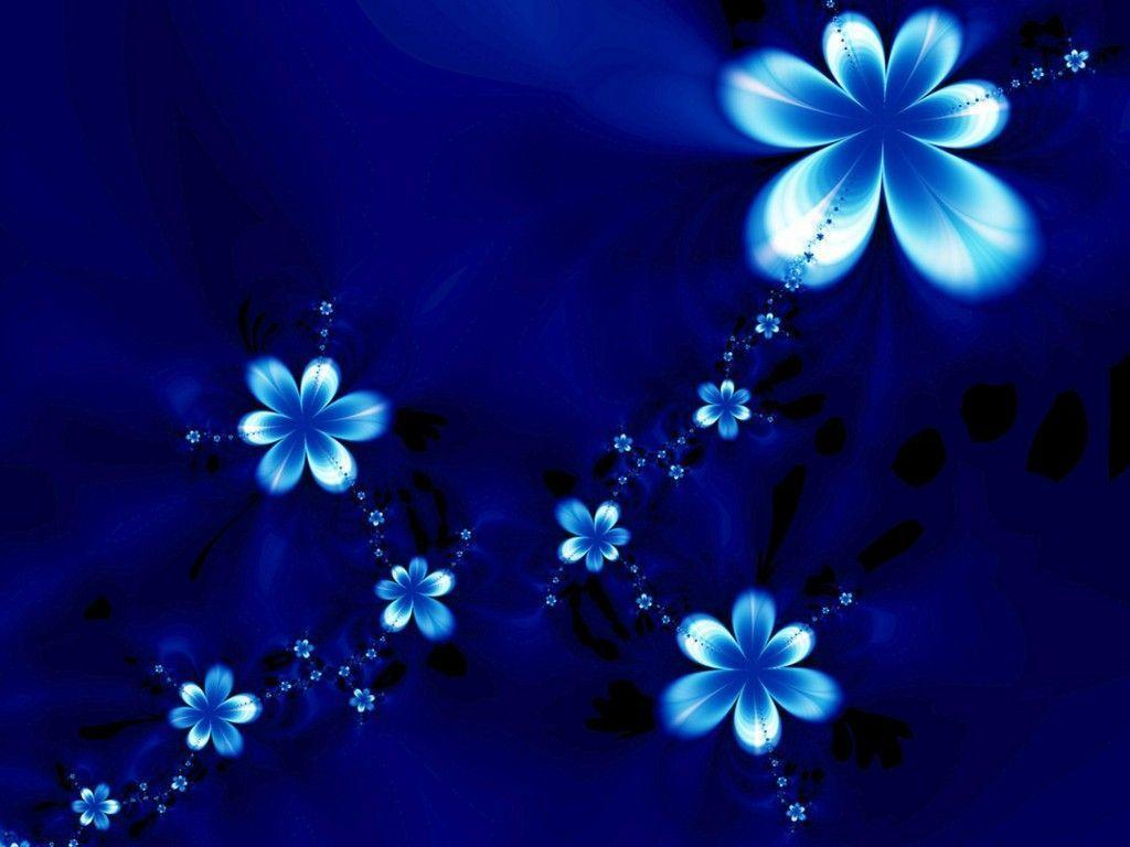 Blue Flowers Backgrounds Wallpapers Hd - Blue Color Flower Background - HD Wallpaper